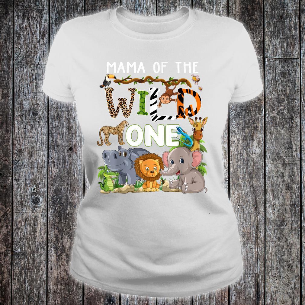 Mama Of The Wild One Zoo Theme Birthday Safari Jungle Shirt ladies tee