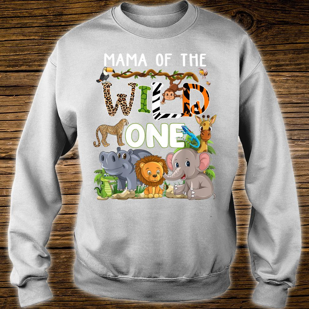 Mama Of The Wild One Zoo Theme Birthday Safari Jungle Shirt sweater