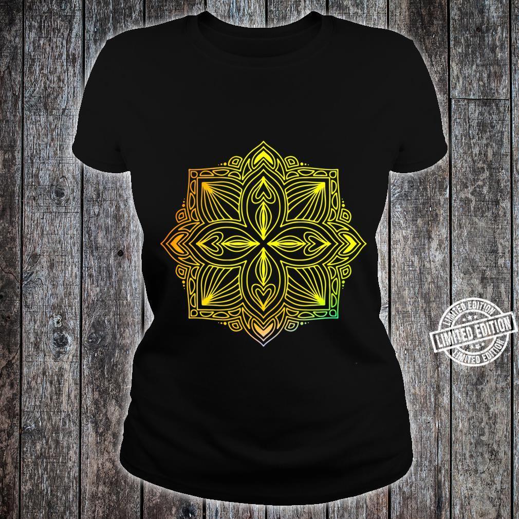 Mandala Wisdom Meditation Light Burst Shirt ladies tee