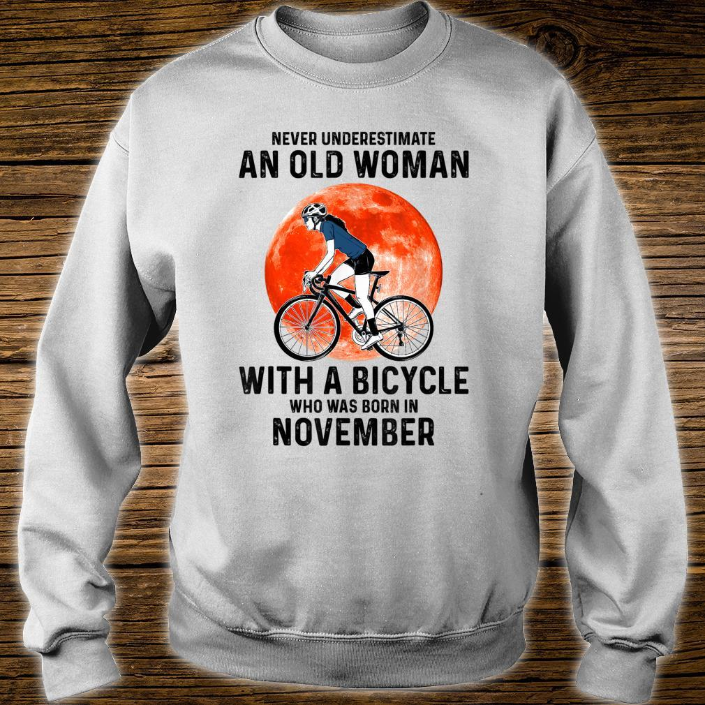 Never Underestimate An Old With A Bicycle November Shirt sweater