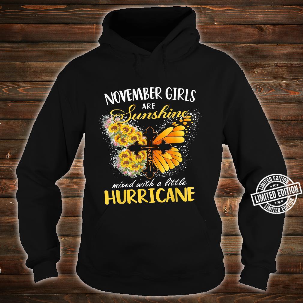 November Girls Are Sunshine Mixed Little Hurricane Sunflower Shirt hoodie