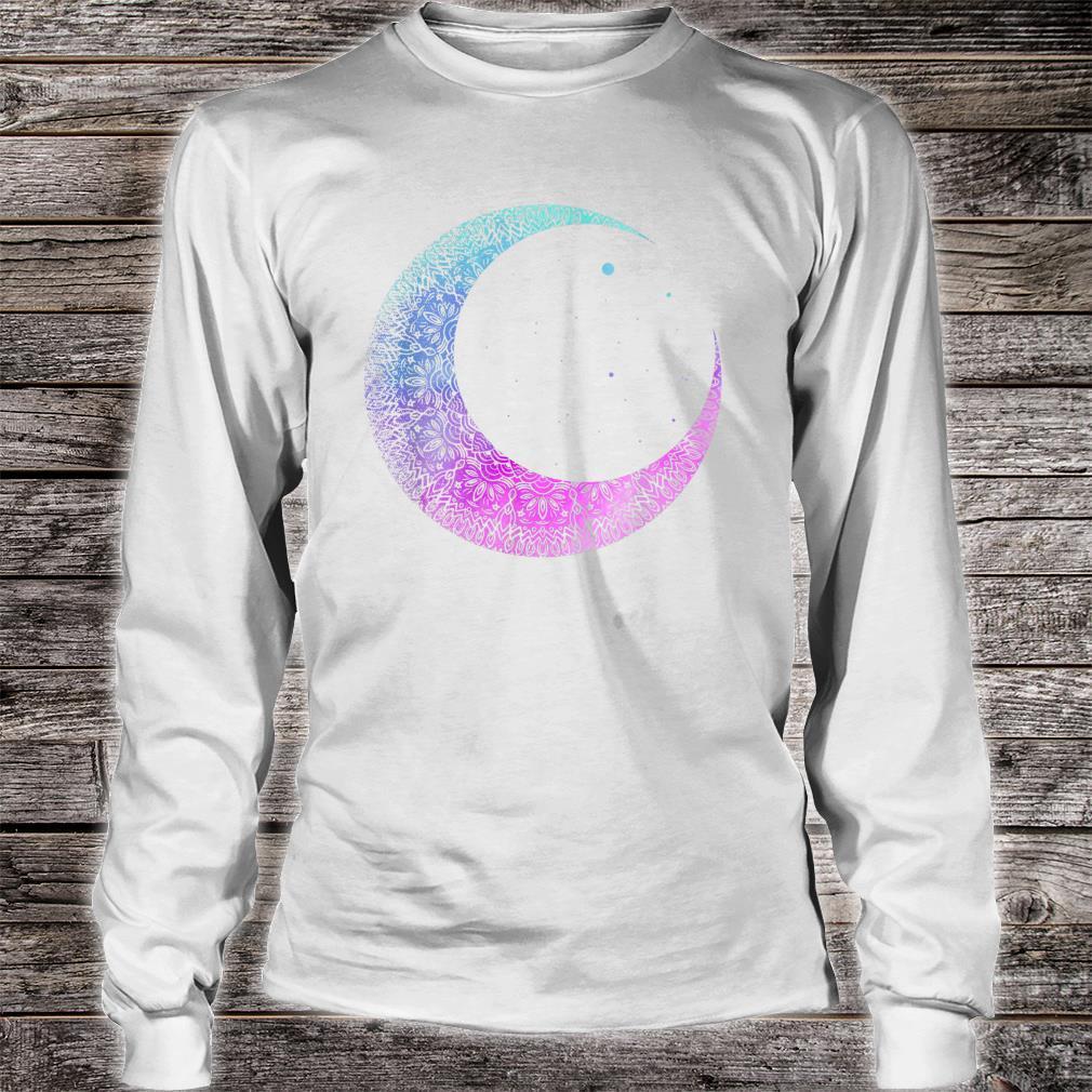 Otaku Anime Crescent Moon Mandala Pastel Gothic Shirt long sleeved