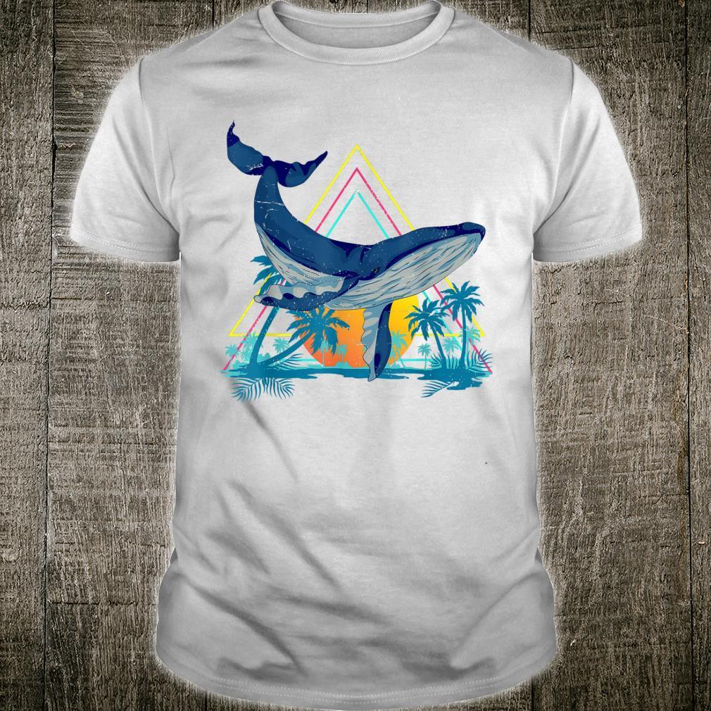 Palm Trees Sea Summer Ocean Mammal Animal Tropical Whale Shirt