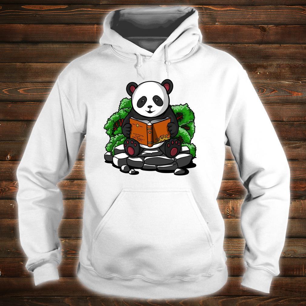 Pandabär Buch Lesen Student Kinder Jungen Mädchen Shirt hoodie