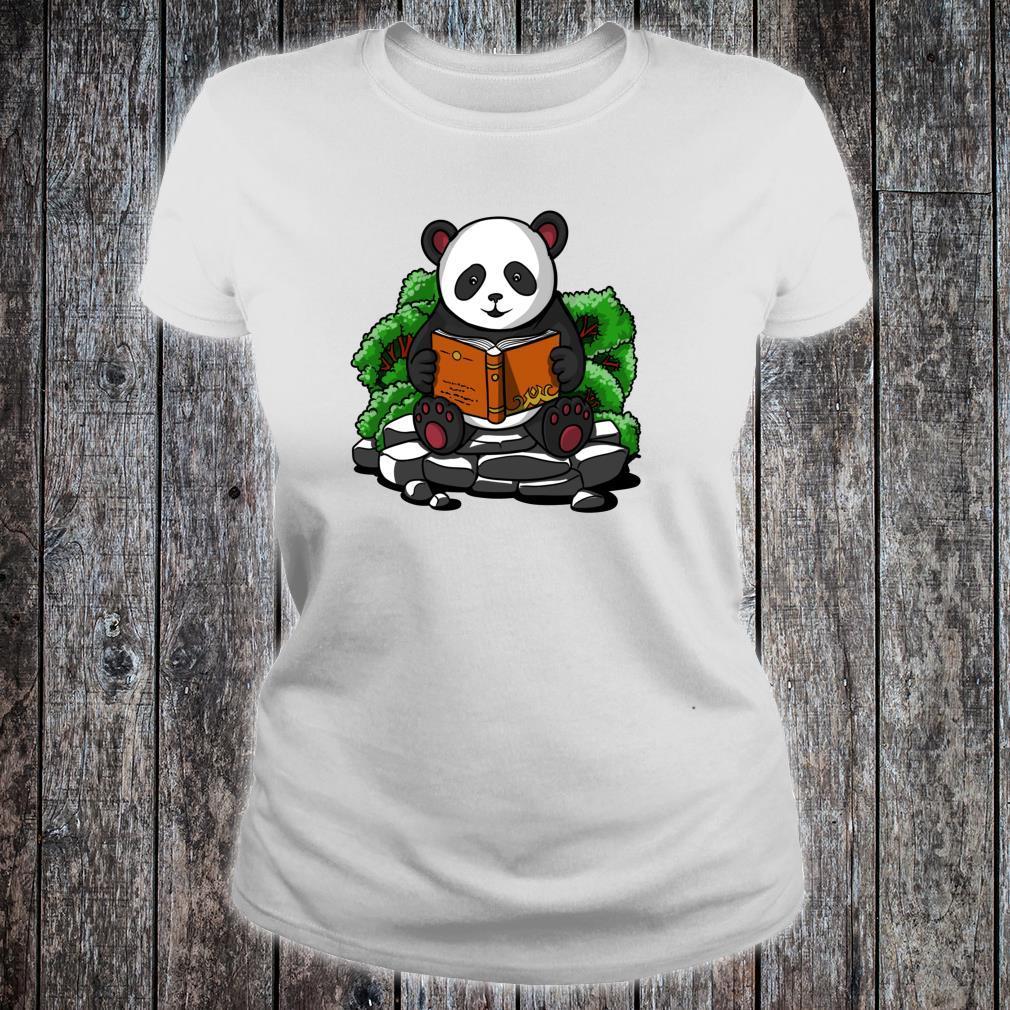 Pandabär Buch Lesen Student Kinder Jungen Mädchen Shirt ladies tee