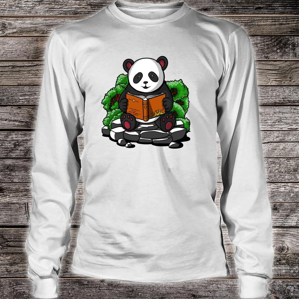 Pandabär Buch Lesen Student Kinder Jungen Mädchen Shirt long sleeved