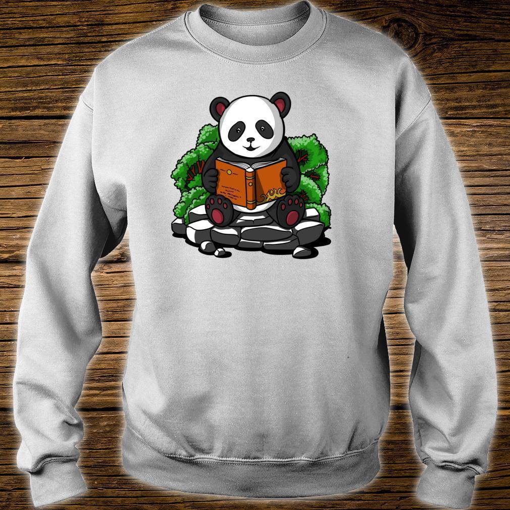 Pandabär Buch Lesen Student Kinder Jungen Mädchen Shirt sweater