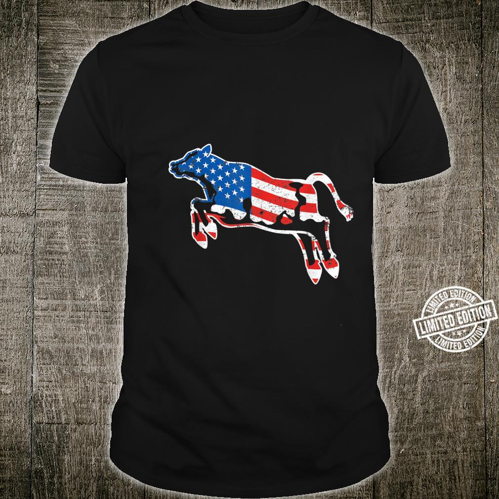Patriotic Cow Red White And Moo Blue USA Flag 4th July Shirt