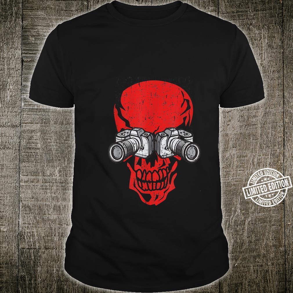 Photographer photo camera Skull Halloween Costume Shirt
