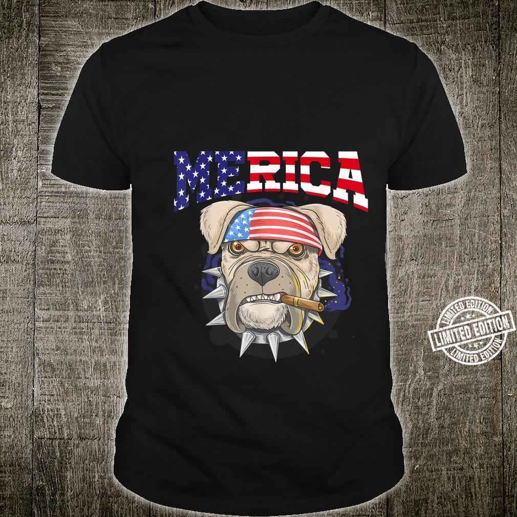 Pit Bull 4th of July Merica American Flag Sunglasses Shirt