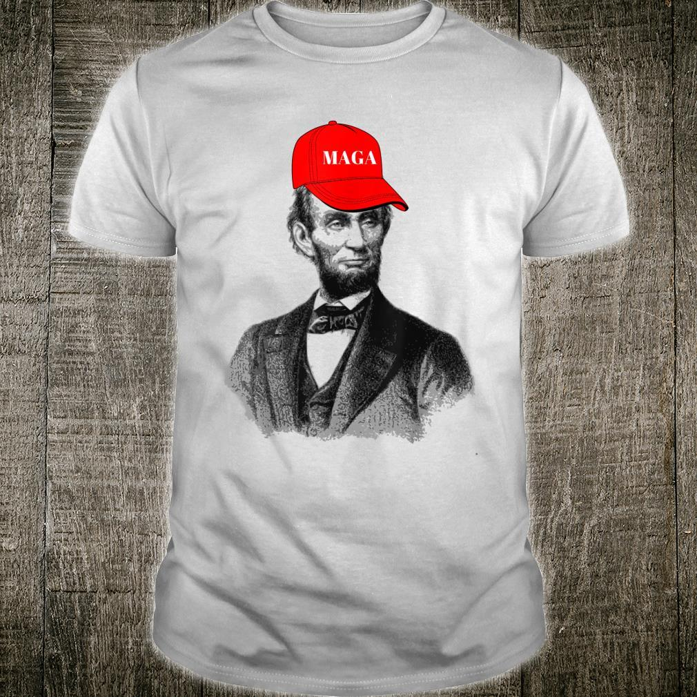 President Abraham Lincoln in MAGA hat Shirt
