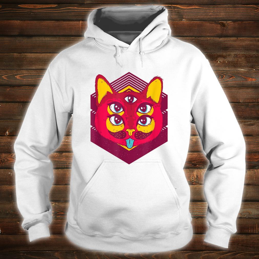 Psychedelic Trip Acid Trippy Cats Shirt hoodie