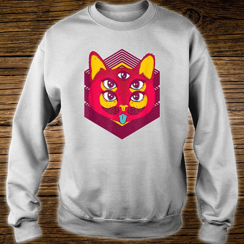 Psychedelic Trip Acid Trippy Cats Shirt sweater