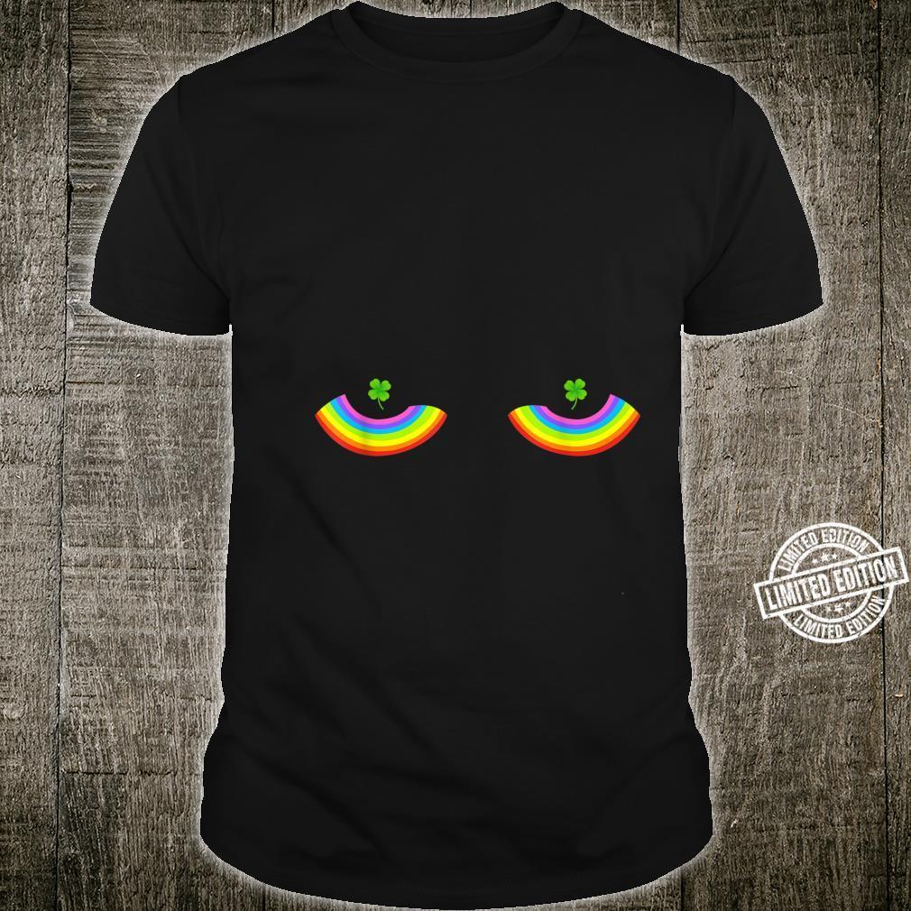 Rainbow Boobs LGBT Pride Four Leaf Irish Shamrock Nipples Shirt