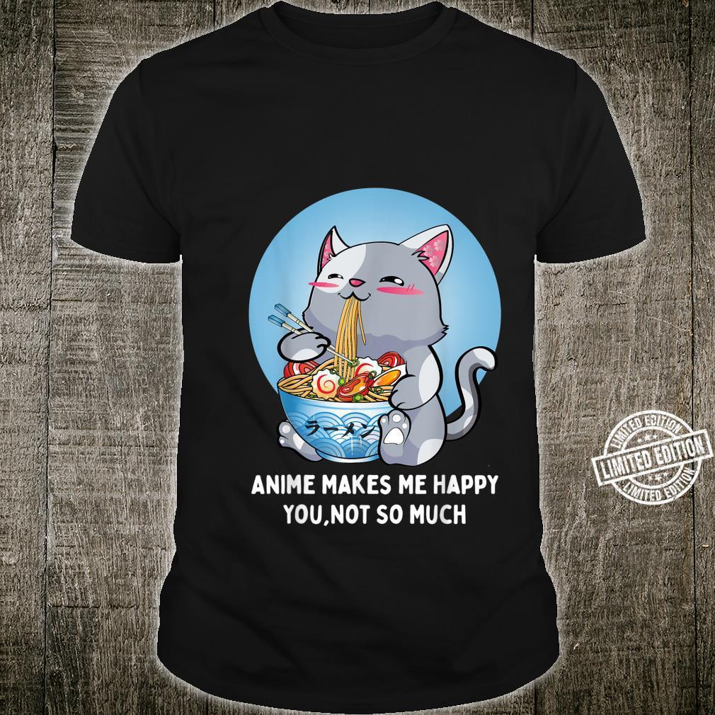 Ramen Cat Kawaii Neko Anime Japanisches Geschenk Frauen Männer Shirt