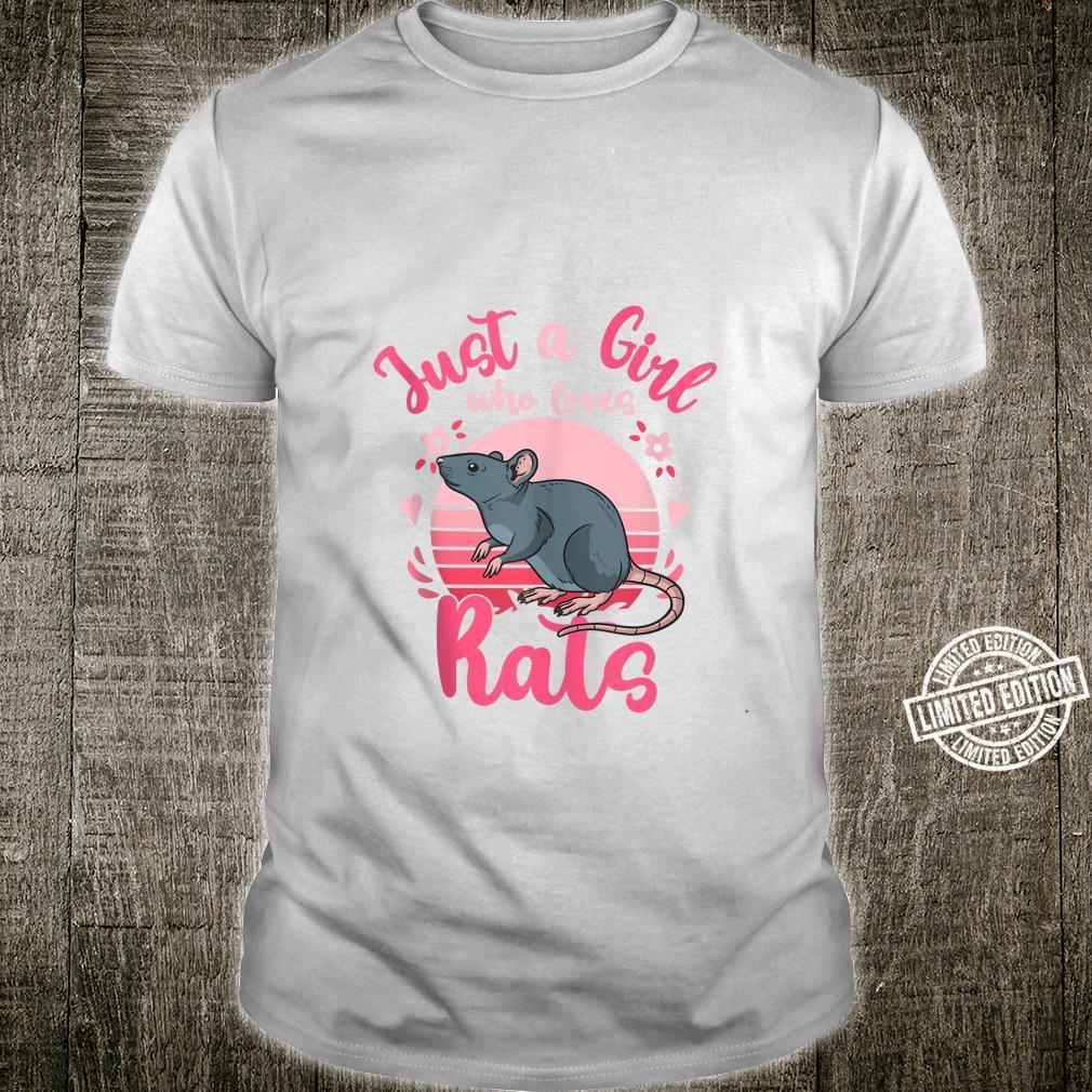Rat Just a Girl Who Loves Rats Retro Shirt
