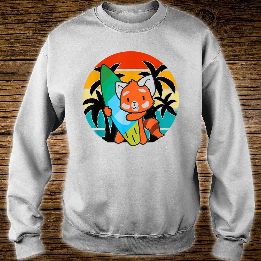 Red Panda Beach Urlaub Surfboard Sommer Panda Shirt sweater