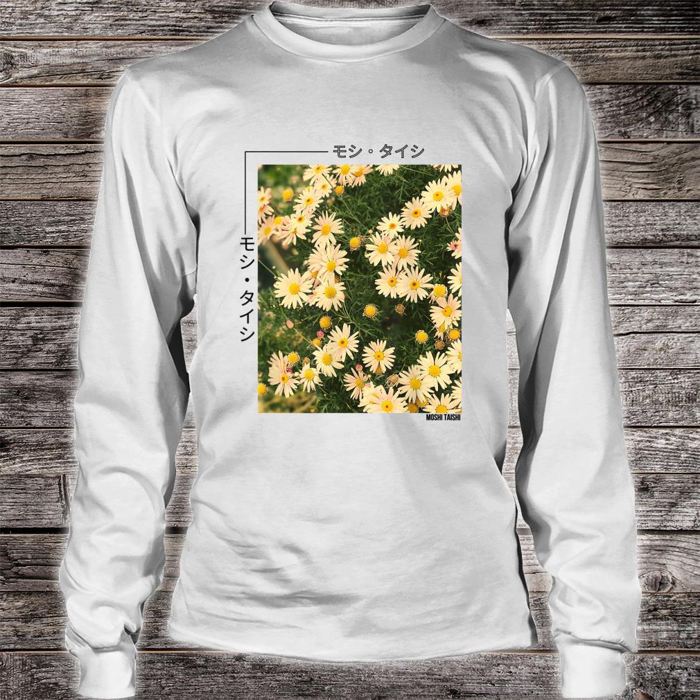 Retro Japanese Floral 90's Lofi Streetwear Aesthetic Shirt long sleeved