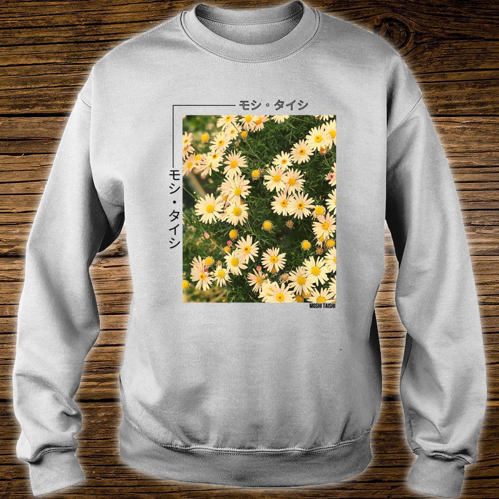 Retro Japanese Floral 90's Lofi Streetwear Aesthetic Shirt sweater