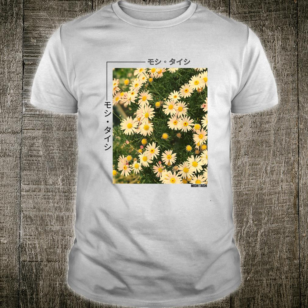 Retro Japanese Floral 90's Lofi Streetwear Aesthetic Shirt