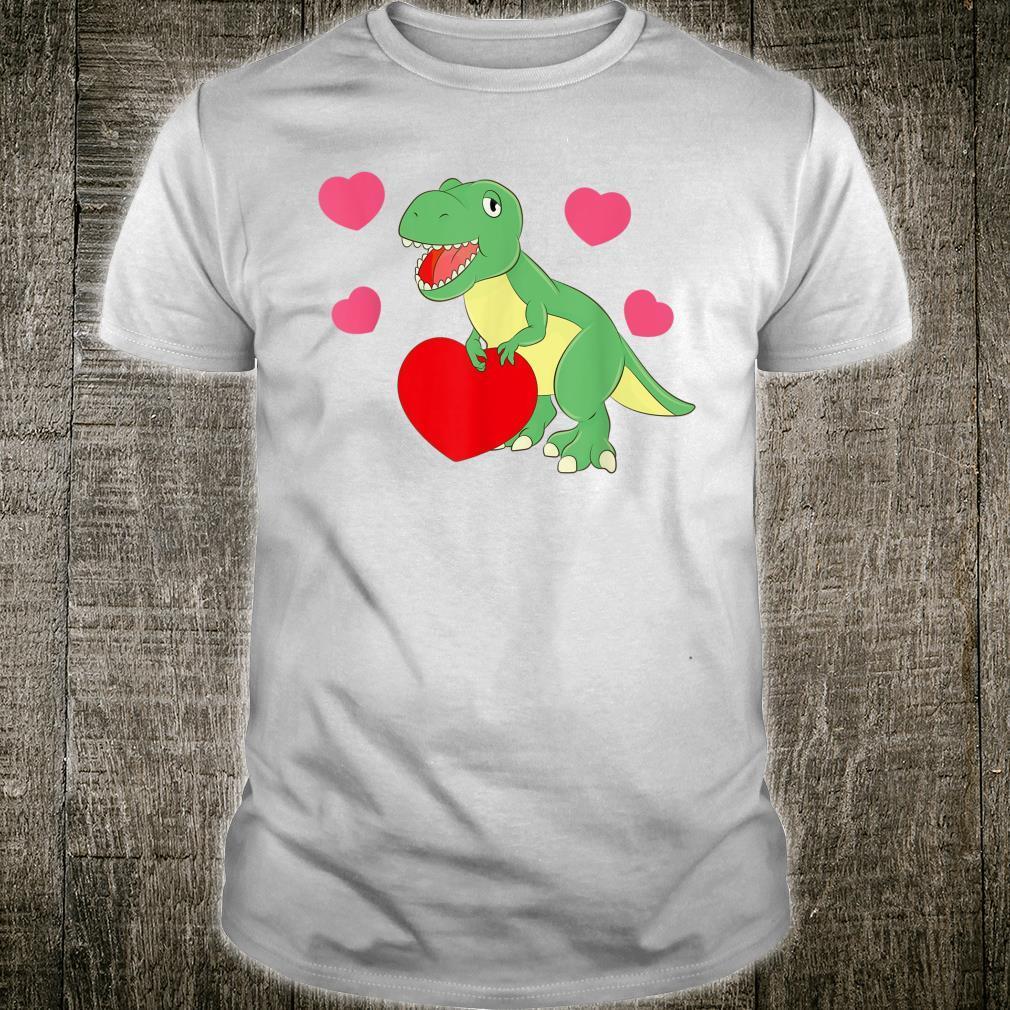 Roaring TRex Dinosaur Heart Cute Dino Love T Rex Shirt