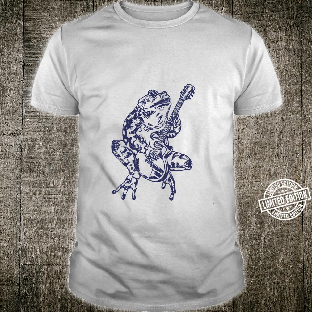 SEEMBO Frog Playing Guitar Guitarist Musician Music Fun Band Shirt