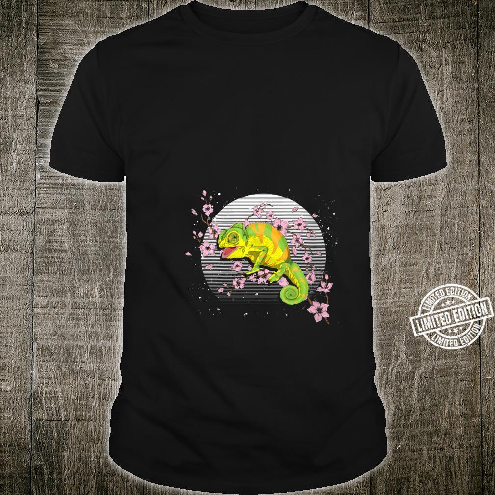Sakura Rainforest Reptile Lizard Cherry Blossom Chameleon Shirt