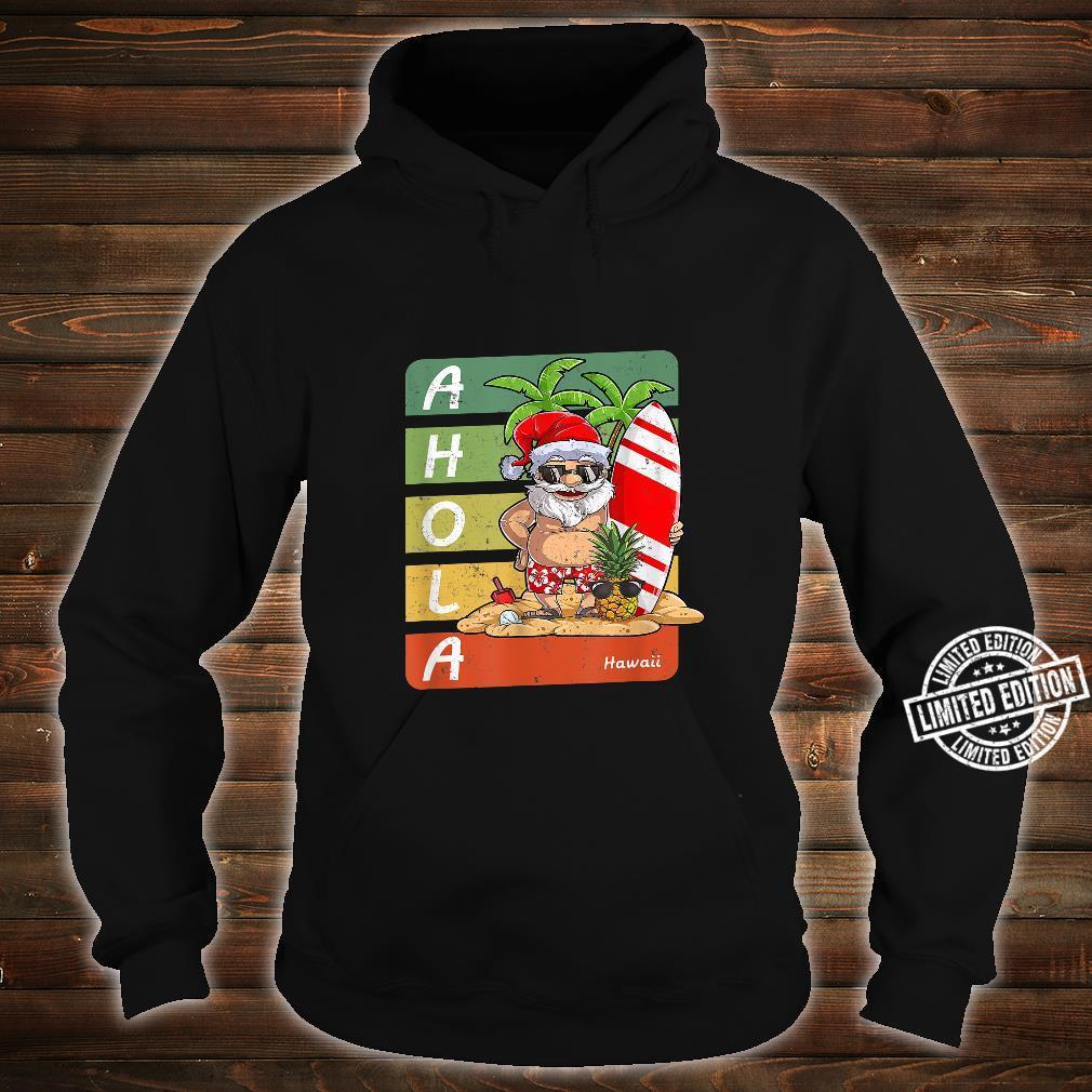 Santa On Beach Surfboard Christmas In August,Hawaiian Shirt hoodie