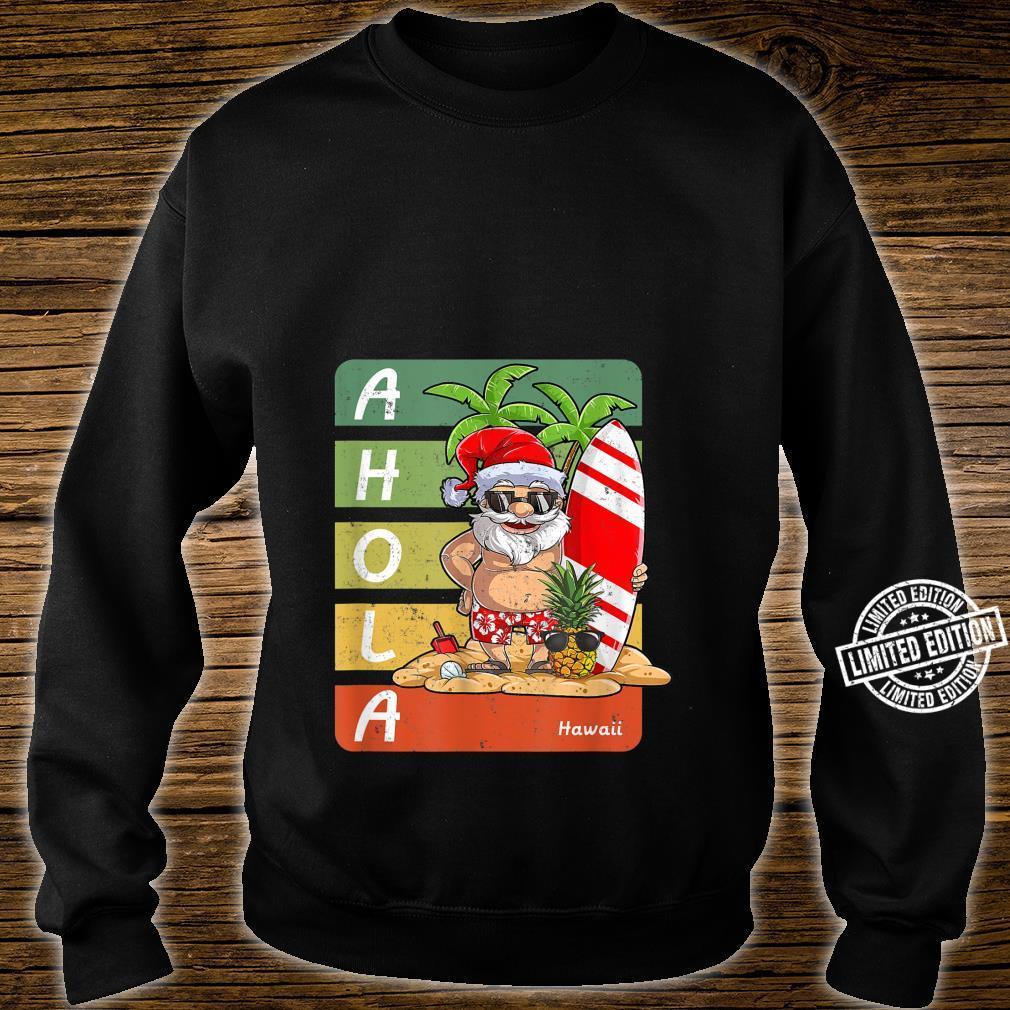 Santa On Beach Surfboard Christmas In August,Hawaiian Shirt sweater
