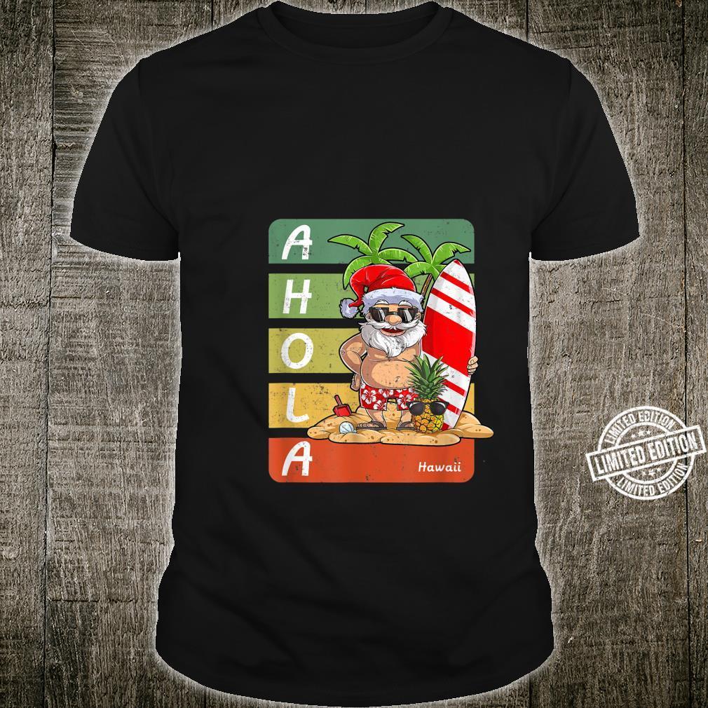 Santa On Beach Surfboard Christmas In August,Hawaiian Shirt