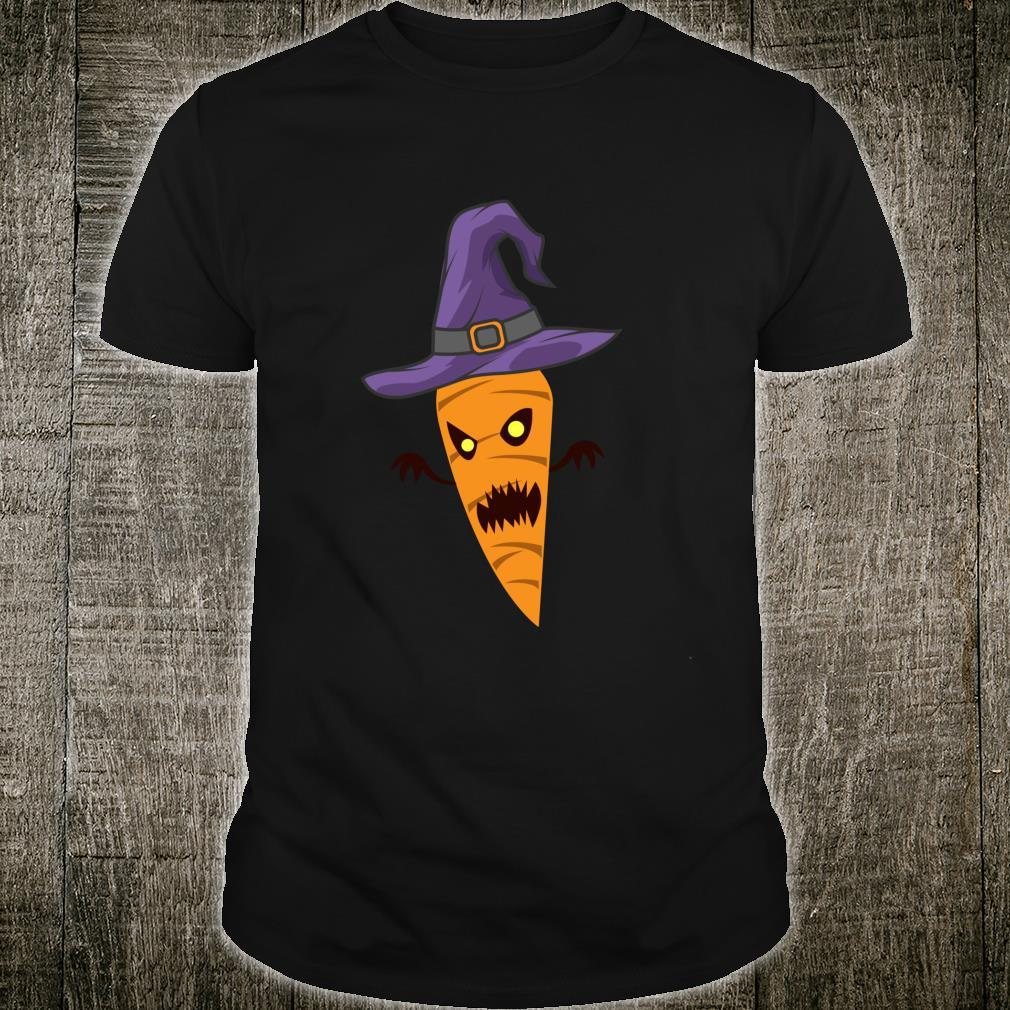 Scary Spooky Carrot With Witch Hat For Vegetables Shirt