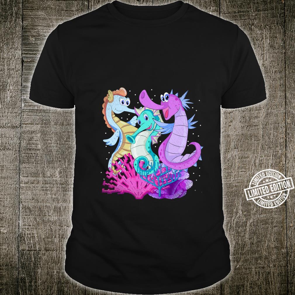 Sea Creatures Sea Fish Ocean Animal Underwater Cute Seahorse Shirt