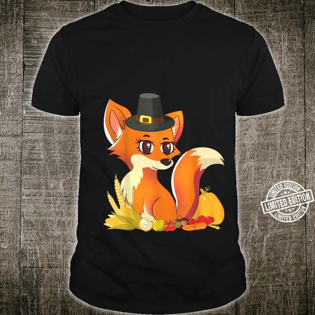 Süßer Fuchs Pilgrim – Happy Thanksgiving Holiday Autumn Shirt