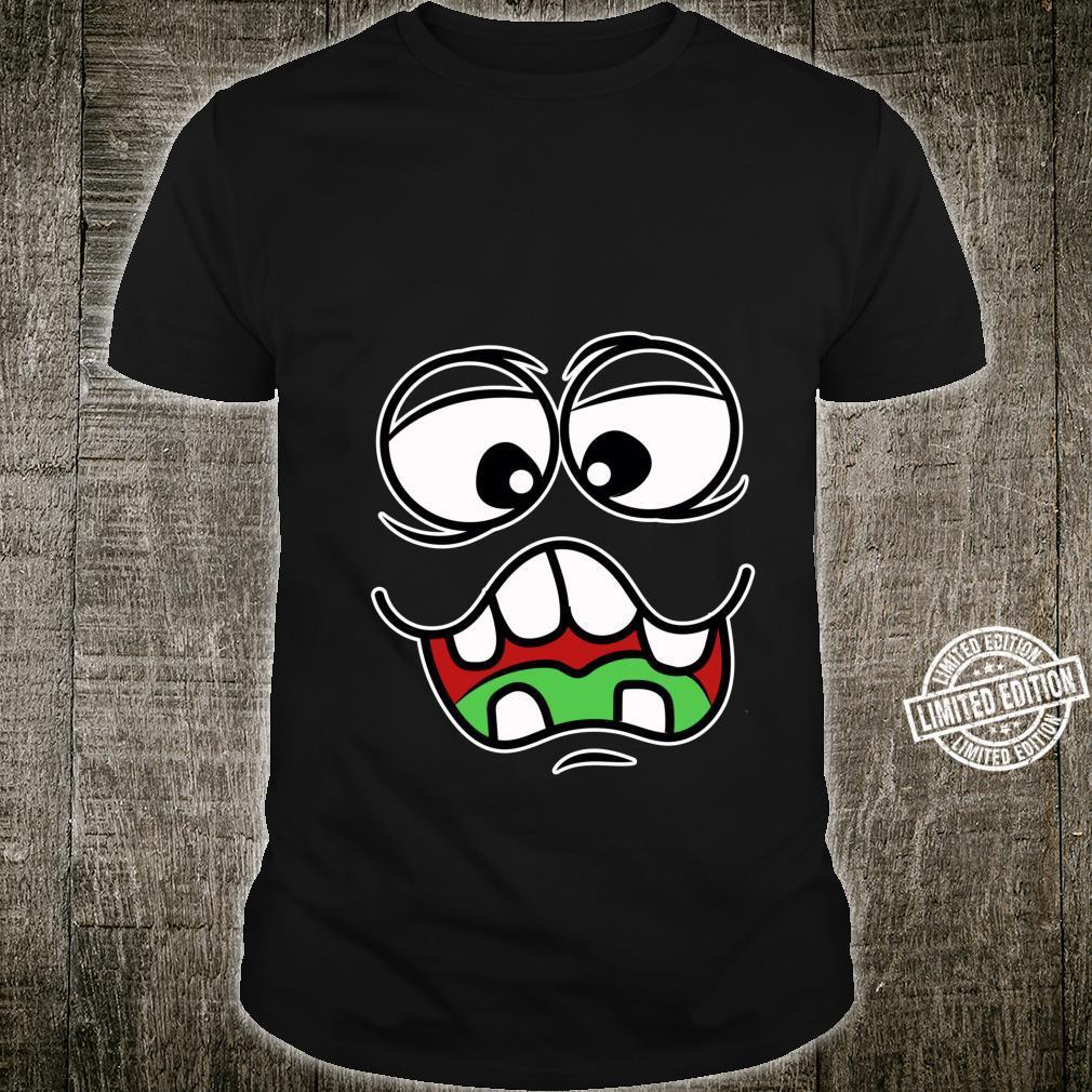 Silly Goofy Monster Face Easy Halloween Kostüm Shirt