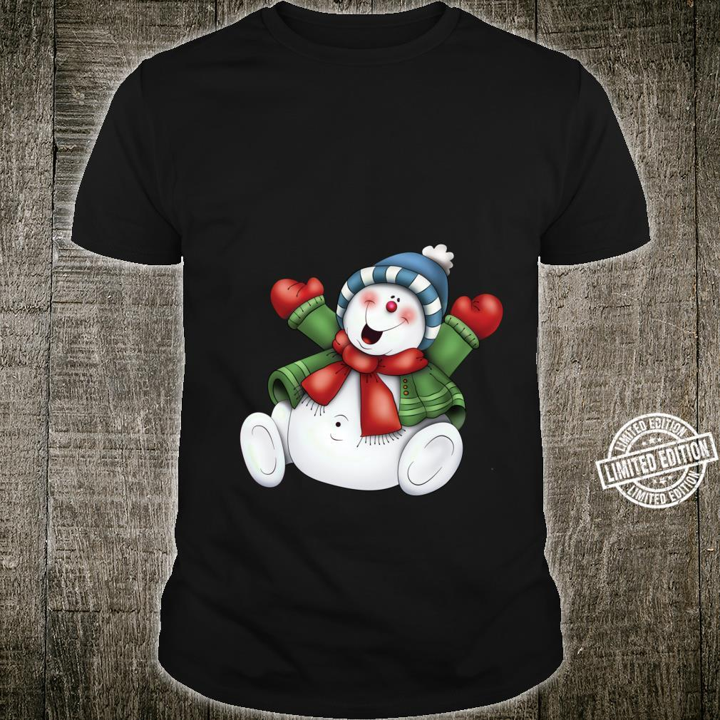 Snowman Cute Frosty Stay Cool Holiday Christmas Winters Here Shirt