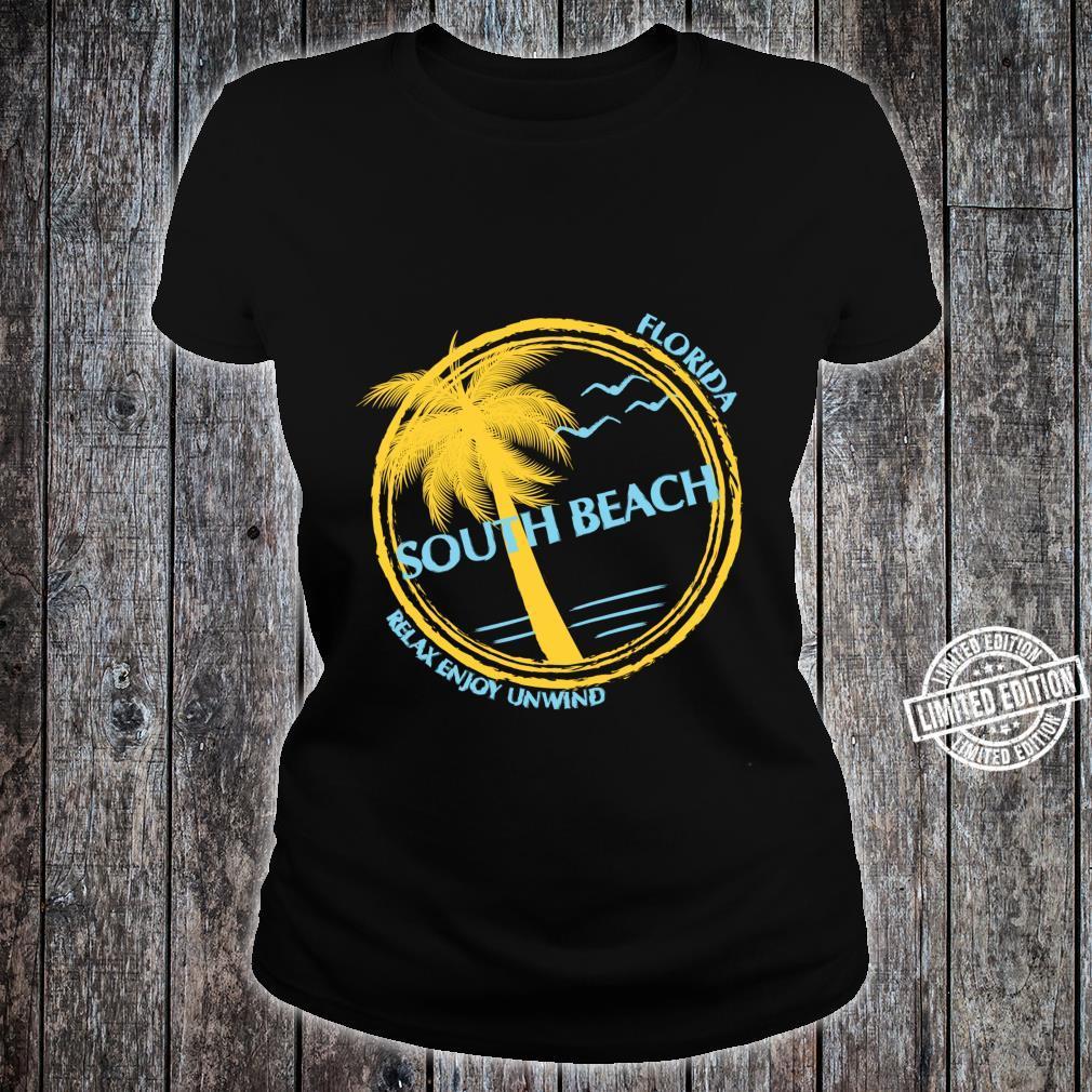 South Beach Florida Souvenir For Spring Break Shirt ladies tee