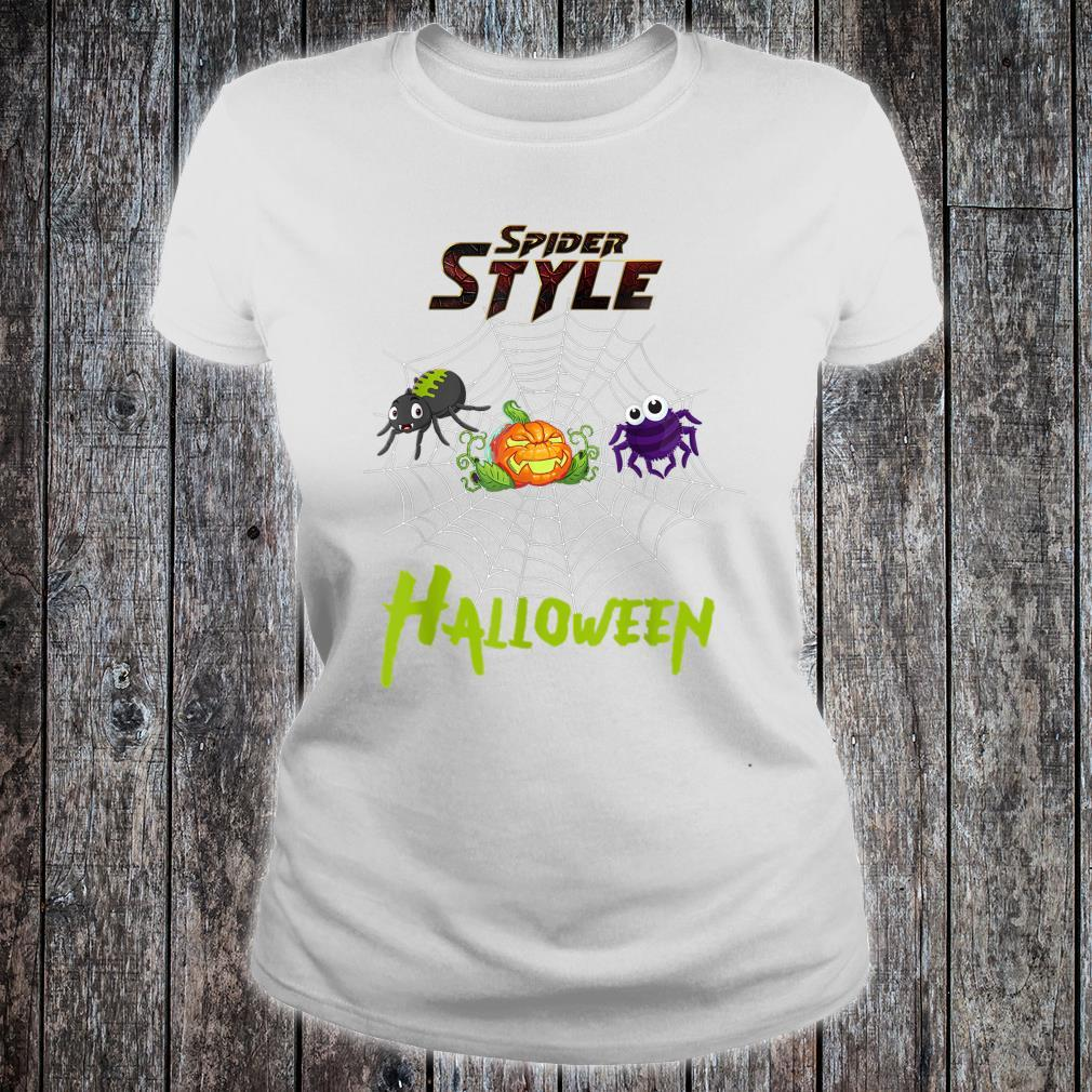 Spider style Halloween Party costume Idea Shirt ladies tee