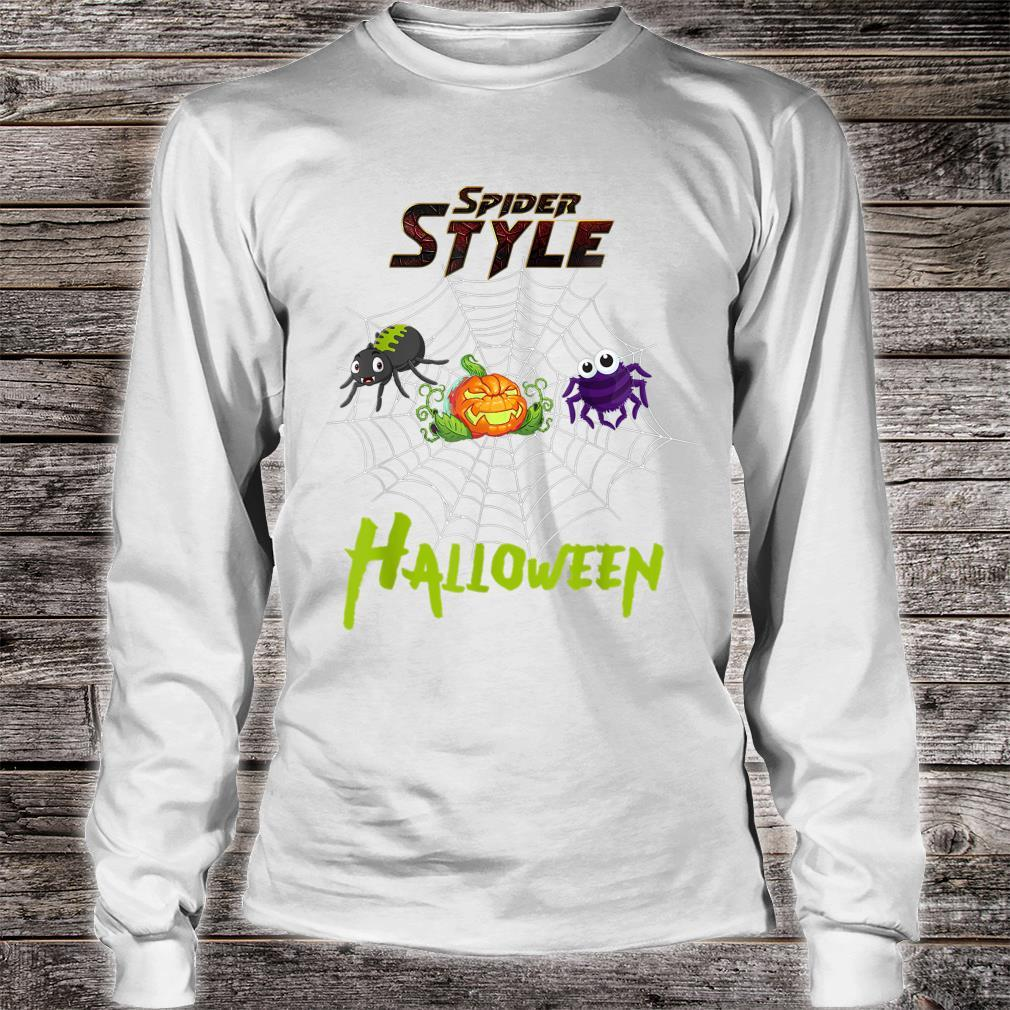 Spider style Halloween Party costume Idea Shirt long sleeved