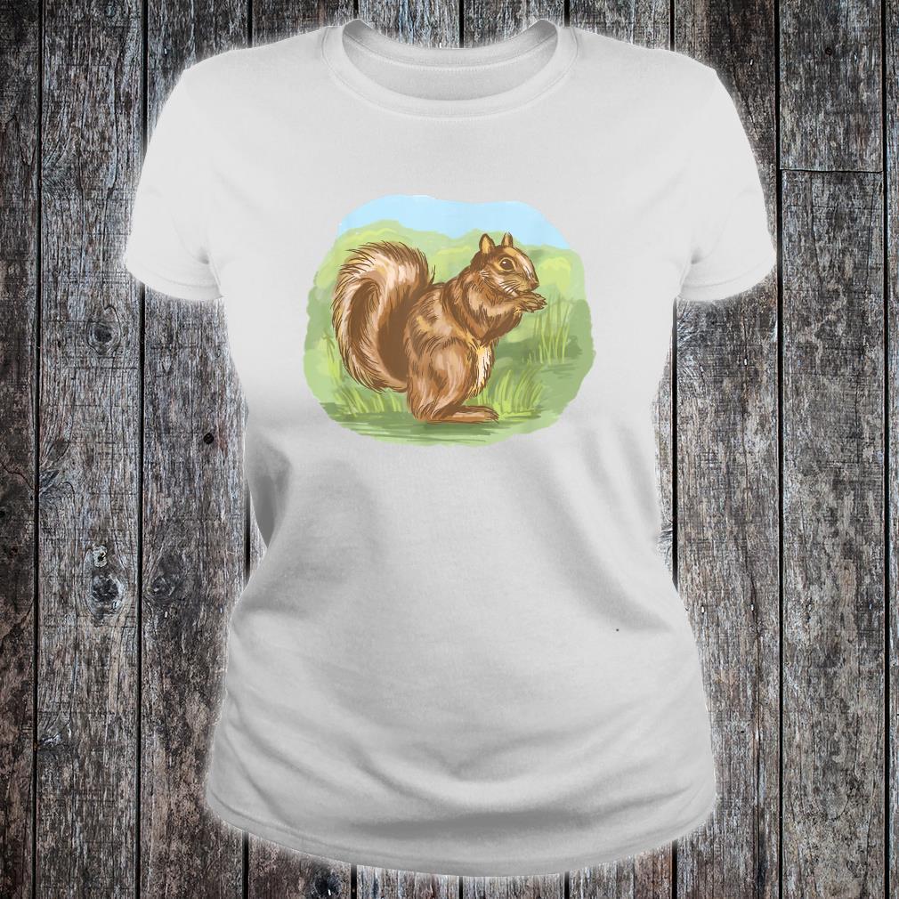 Squirrel Outside Cute Nature Shirt ladies tee