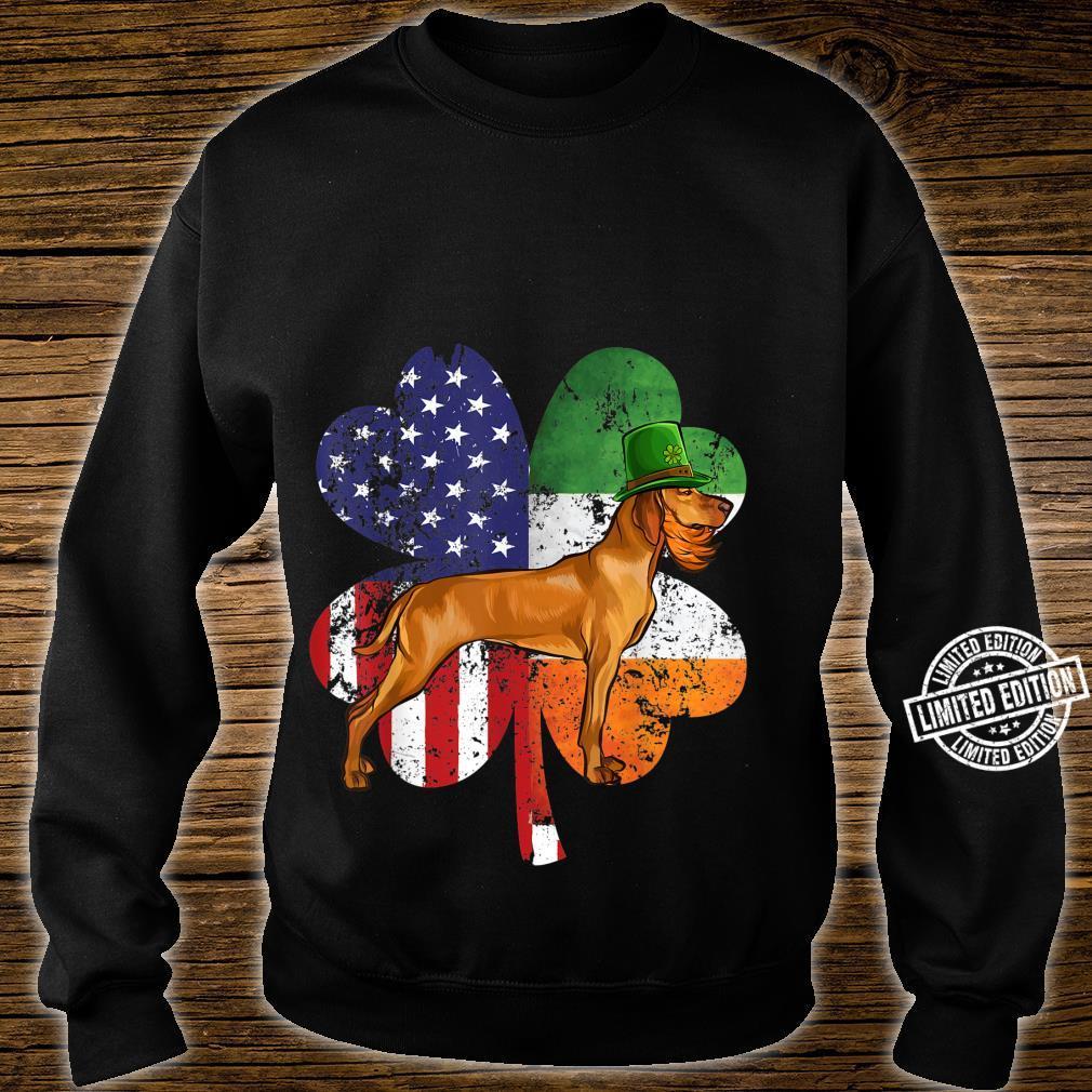 St Patricks Day Irish American Flag Vizsla Dog Shirt sweater