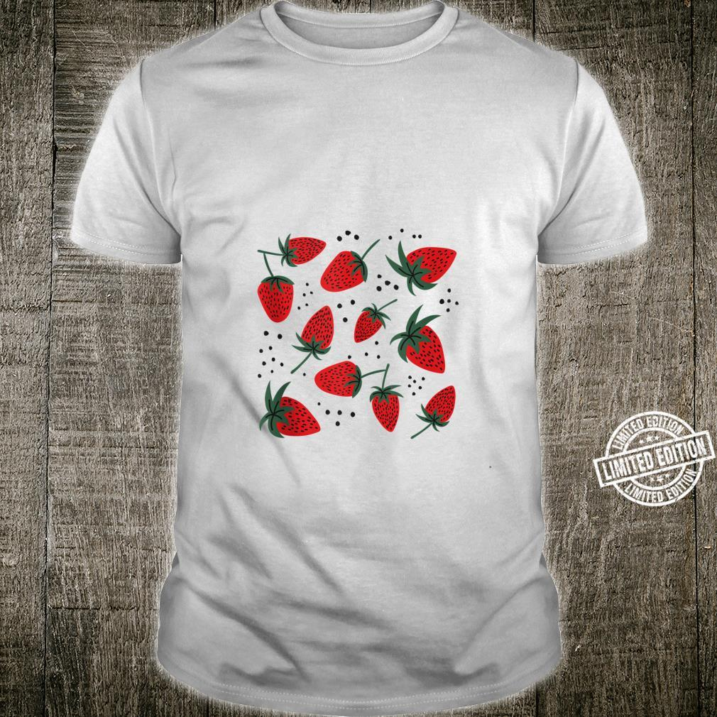 Strawberries Fruit Berry pun, Cute Strawberry Pattern Shirt