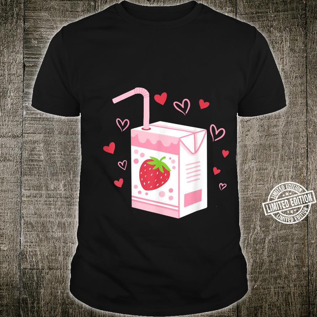 Strawberry Milk Drink Kawaii Anime Japanese Shirt