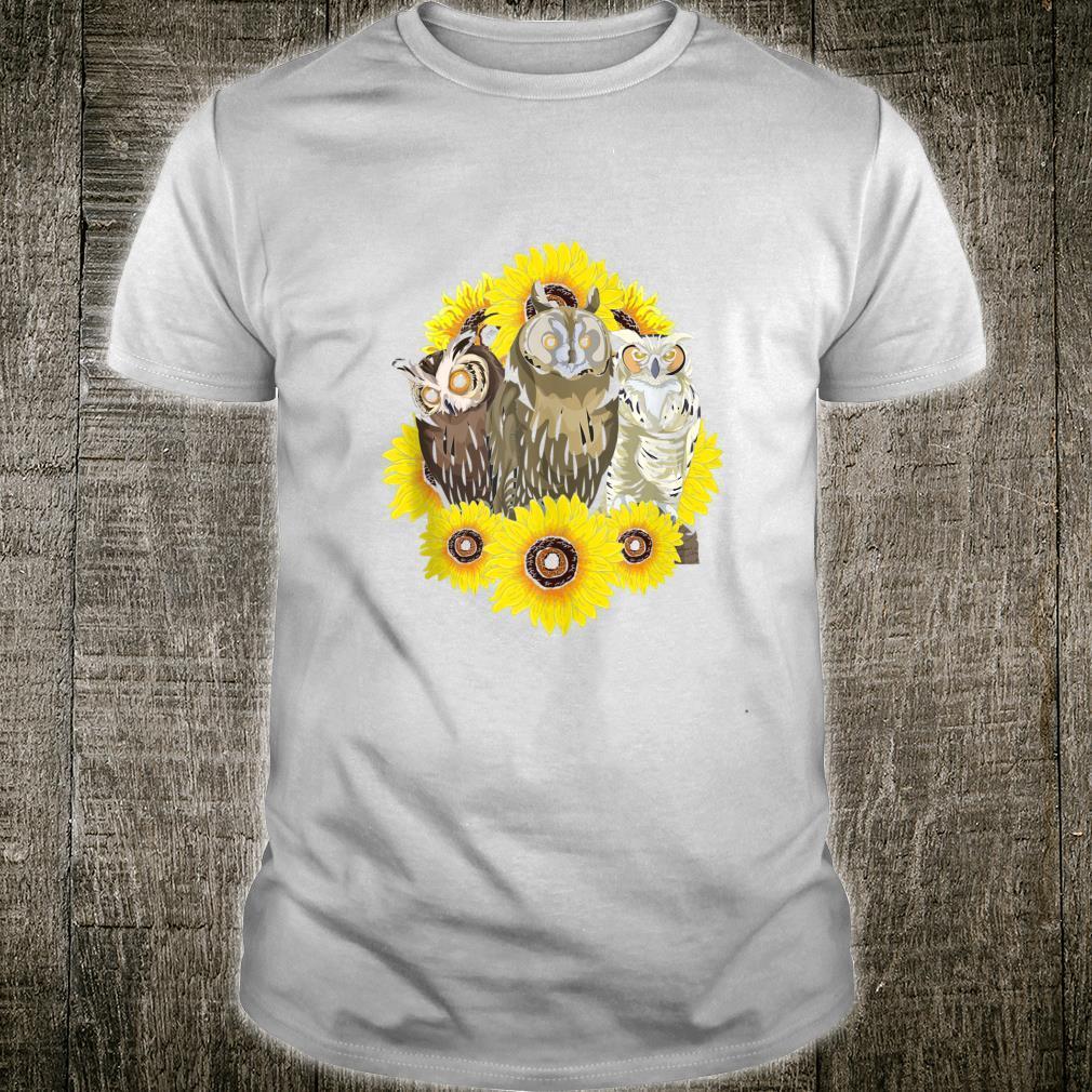 Sunflower Bird Sunshine Forest Animal Cute Owl Shirt
