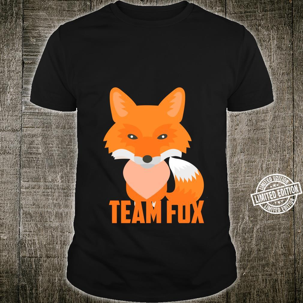 Team Fox Cool I Heart Foxes Shirt