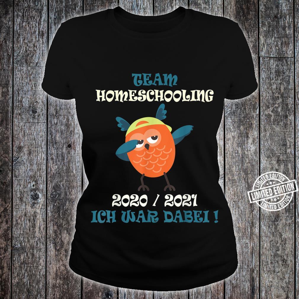 Team Homeschooling 2021 Owl Dabbing Shirt ladies tee