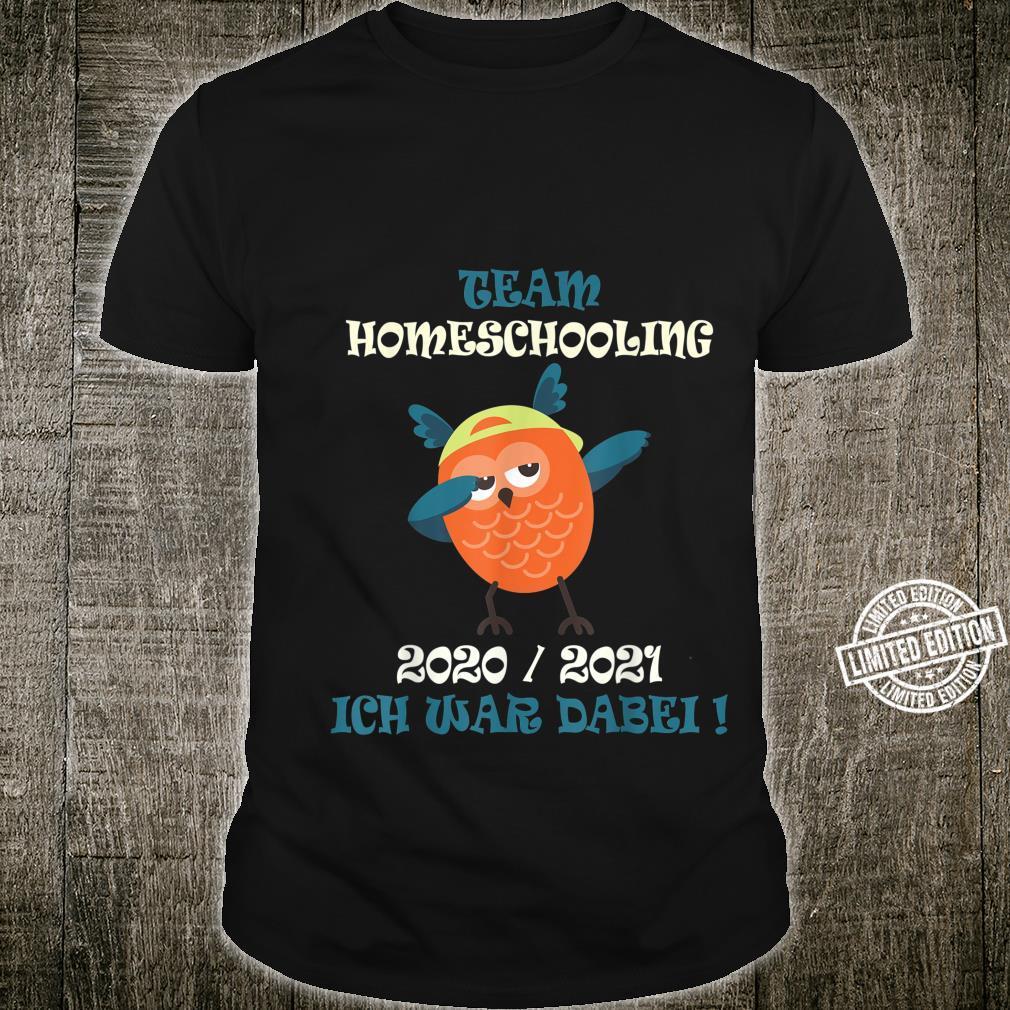 Team Homeschooling 2021 Owl Dabbing Shirt