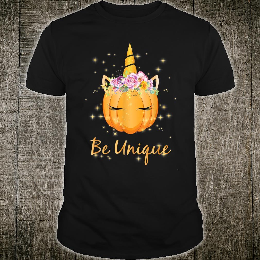 Thanksgiving Unicorn Girls Pumpkin Be Unique Shirt