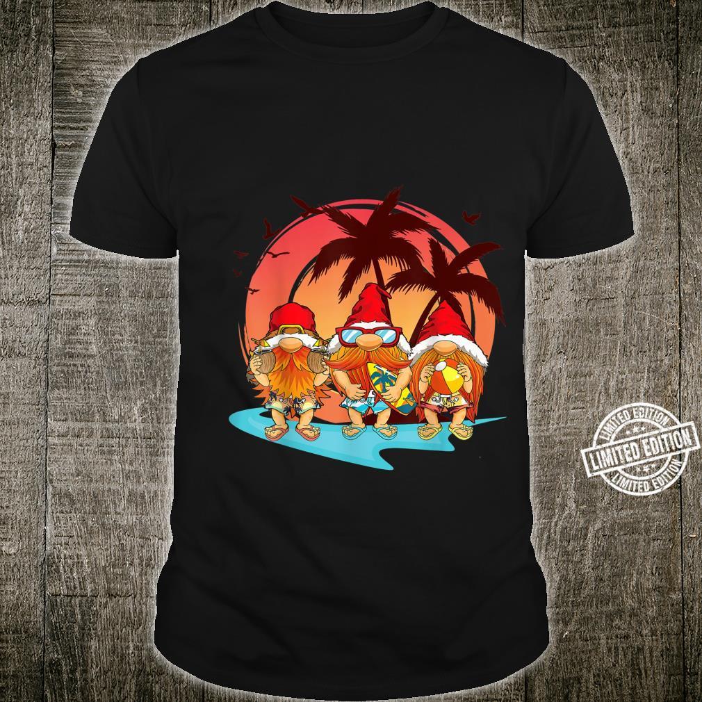 Three Gnomes Beach Summer Hawaiian Christmas In July Style Shirt