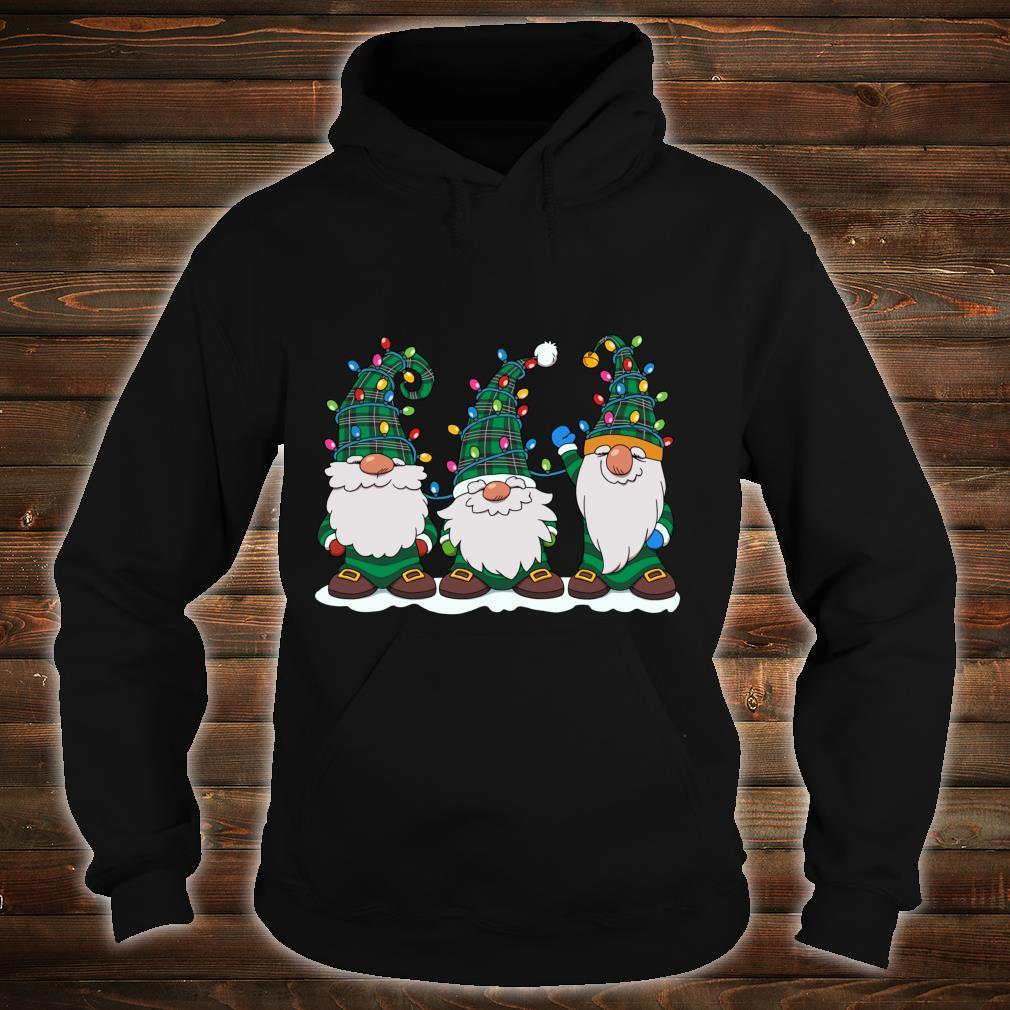 Three Gnomes Winter Gnome Christmas Tree Lights Shirt hoodie