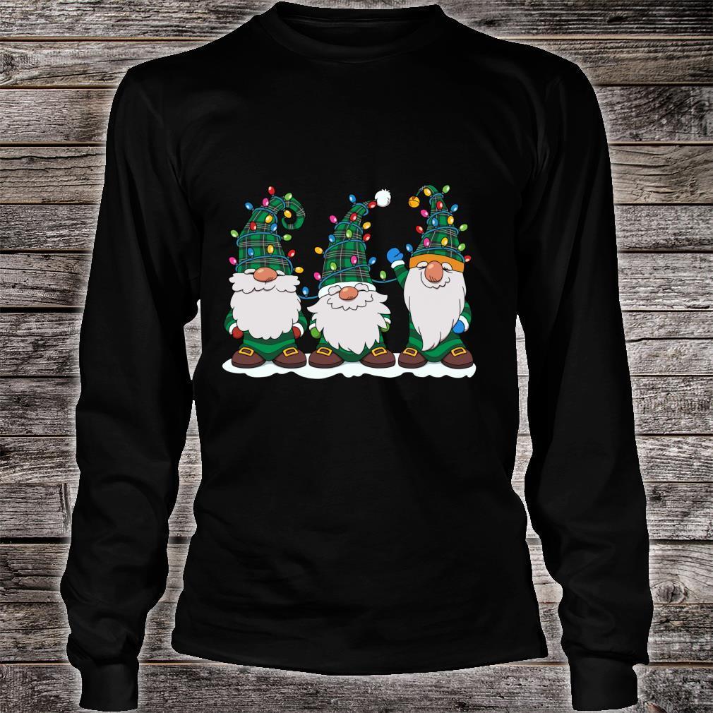 Three Gnomes Winter Gnome Christmas Tree Lights Shirt long sleeved